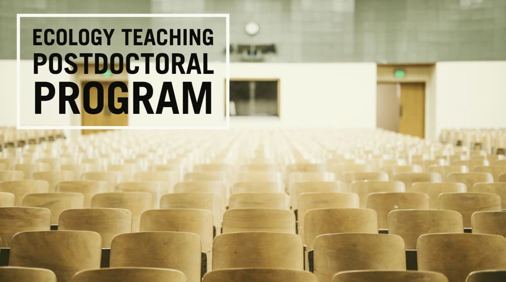 "image of classroom with text""ecology teaching postdoctoral program"""