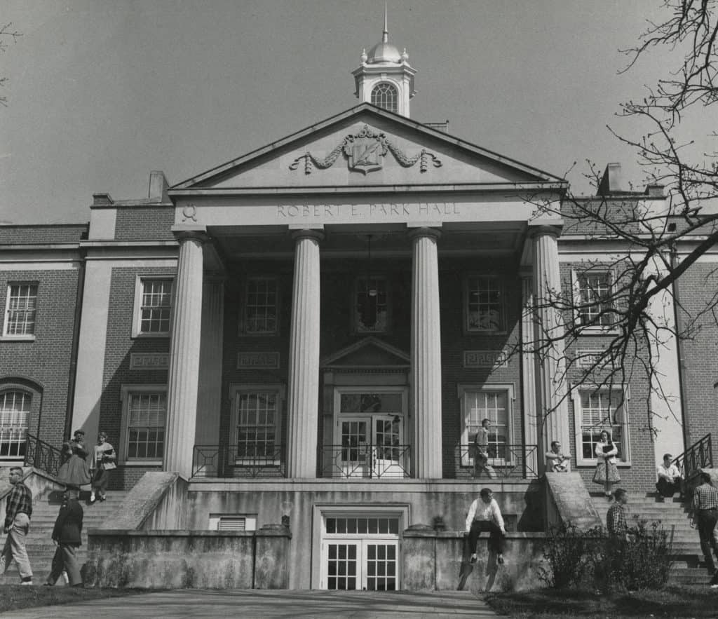 Park Hall during the 1950s. Photo courtesy of the UGA Special Collections Libraries.