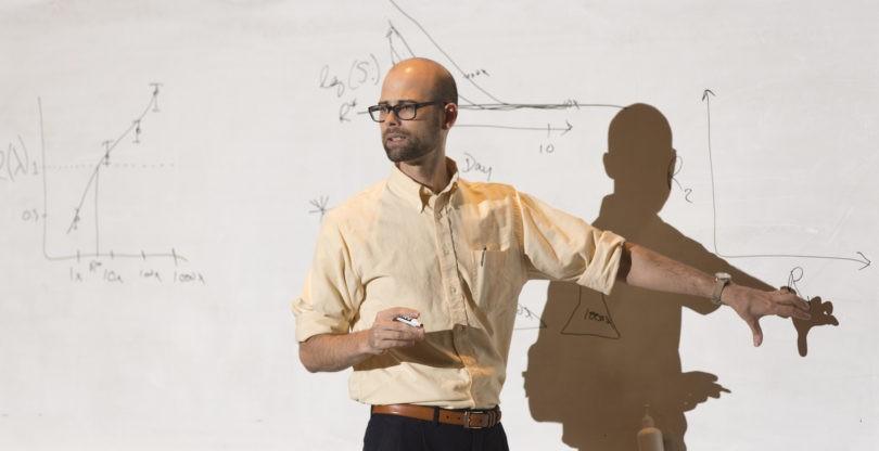 John Drake lectures in ecology classroom. Photo: Andrew Davis Tucker
