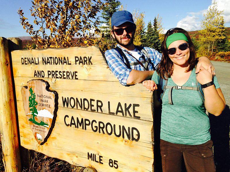 Sean Sterrett and Rachel Katz on a hike. Photo: Christina Baker.