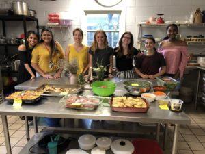 A taste of home: REU students give back