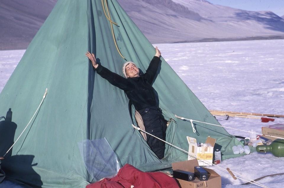 Terry Tickhill Terrell in Antarctica in 1969. Photo: The Ohio State University.