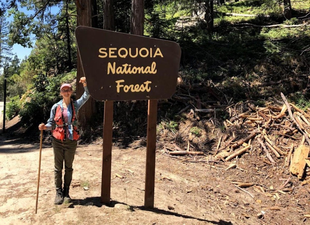 Katherine Russell in Sequoia National Forest. Photo courtesy of Katherine Russell.