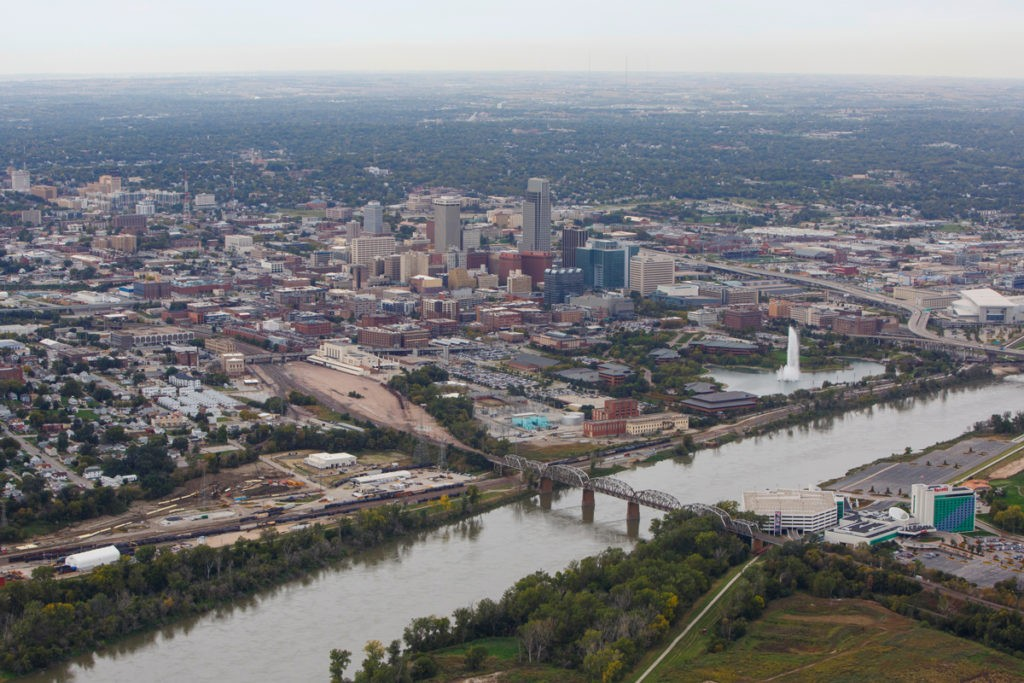 image of aerial view of the Missouri River