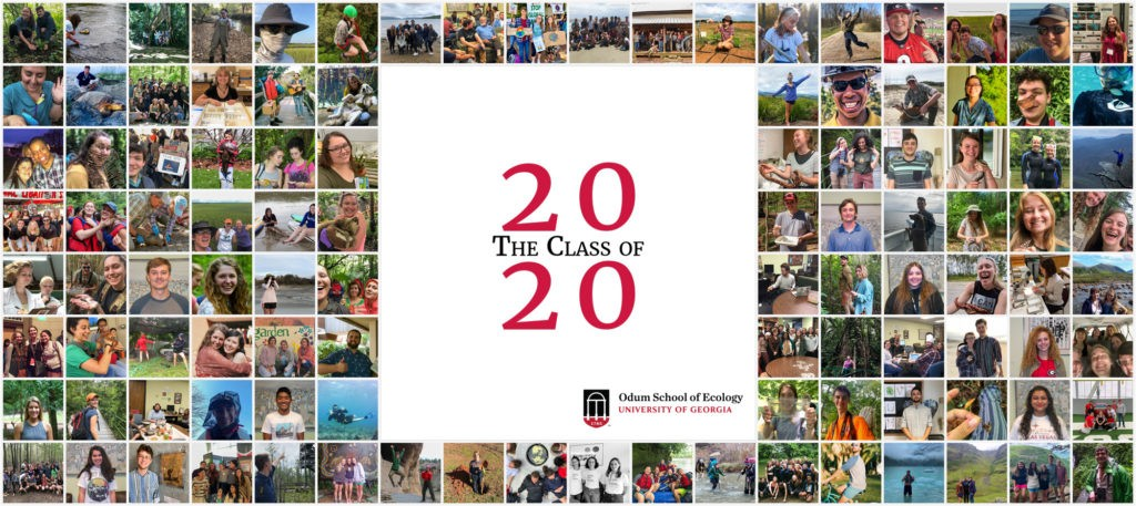 Odum School of Ecology Class of 2020 photo montage