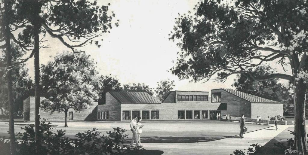 drawing of uga ecology building