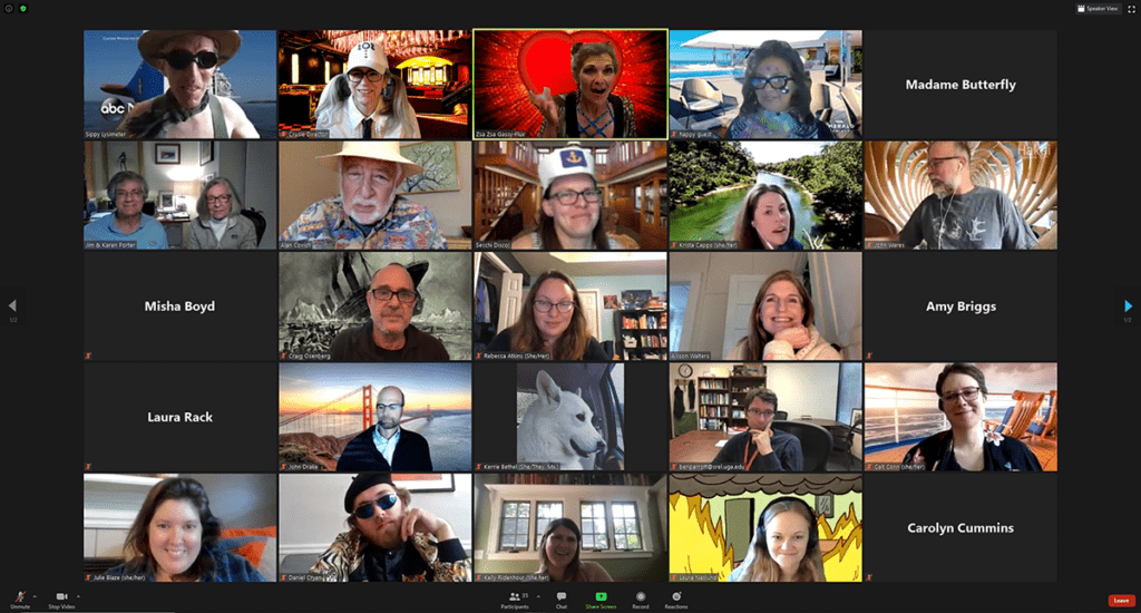 Zoom meeting screenshot from Ecology Spring Fling 2021.